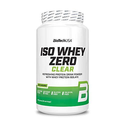 BioTechUSA Iso Whey Zero Clear, das erfrischend fruchtige, eiweißhaltige Getränkepulver, mit 21 g Protein pro Portion, 1362 g, Limette