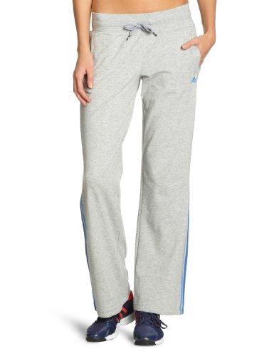 Adidas Damen Trainings Hose Essentials 3S Knit, medium grey heather/super blue s12/lab blue f12/prime ink blue s12, L, W58003,