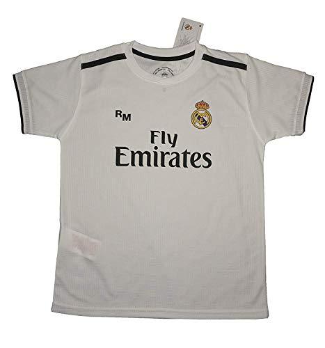 Real Madrid FC Camiseta Infantil Réplica Oficial Primera Equipación 2018/2019 (6 Años)