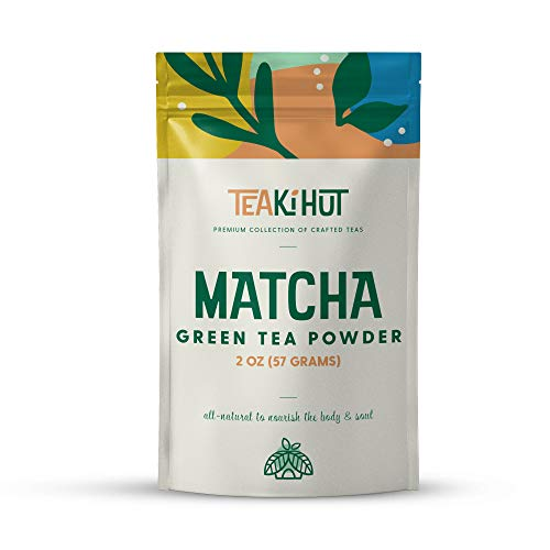 TEAki Hut Matcha Green Tea Powder 2oz (57 Servings), Culinary Grade, Excellent Weight Loss Benefits, More Antioxidants Than Green Tea Bags, Great For Smoothies Lattes