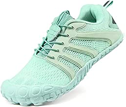 Oranginer Women's Flexible Barefoot Running Shoes Zero Drop Walking Minimalist Shoes 5 Five Finger Wide Toe Box Gym Workout Shoes For Women Athletic Hiking Trekking Gym Workout Sneakers Green Size 8.5