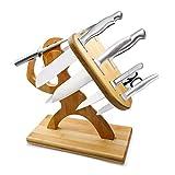 TYSYA Kreativer Messerhalter ohne Messer Ahorn Alter Krieger Küchenhelfer Veranstalter Messer Schere Schärfstab Ständer