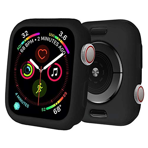 BOTOMALL for Watch Case 38mm 42mm 40mm 44mm Premium Soft Flexible TPU Thin Lightweight Protective Bumper Cover Protector for Smartwatch Series 5 4 Series 3 2(Black,38MM Series 3/2)