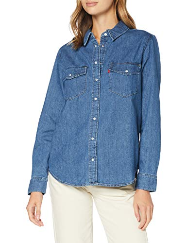 Levi's Essential Western Camisa, Going Steady (3), M para Mujer