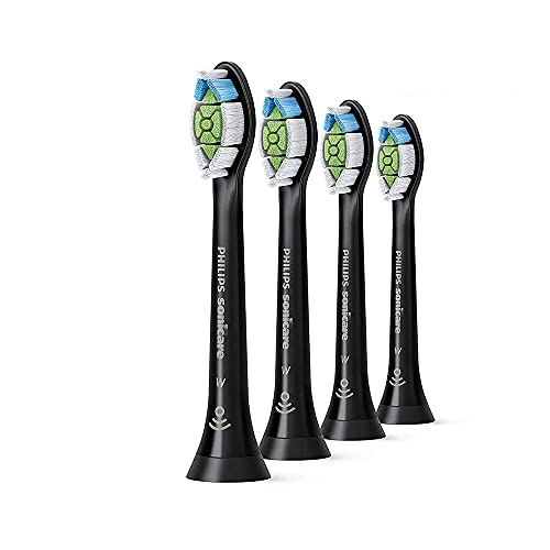 Philips Sonicare Optimal Whitening Black BrushSync Heads (Compatible with all Philips Sonicare Handles), 4 Pack