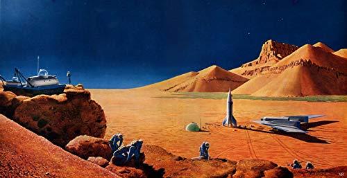 p5138 A4 Poster Chesley Bonestell Exploration of Mars 1956 - Art Movie Film Gam