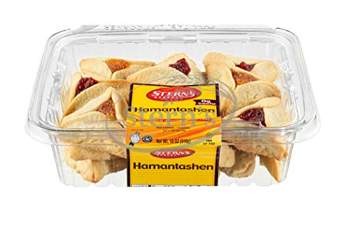 Hamentaschen Cookies Filled With Raspberry & Apricot | Shortbread Cookies | Hamentaschen Cookies | Purim Cookies | Dairy & Nut Free | Mishloach Manot Cookie Gifts | 18 oz Stern's Bakery