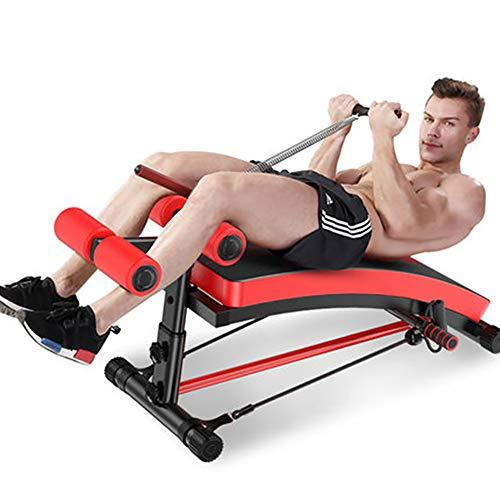 Deliya Sit Up Bank Trainingsbank Bauchtrainer Rückentrainer Klappbar 6-Fach Verstellbar, Gepolsterte Beinfixierung, Bis 120Kg Belastbar