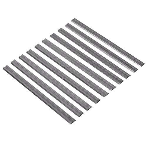 10 x 82 mm Hobelmesser, Hartlegierung, Schneidemesser für Hobel, geeignet für Makita Bosch Hitachi Ryobi, geeignet für Holzarbeiten, Weichhölzer, Hartholz, Sperrholz, Holz