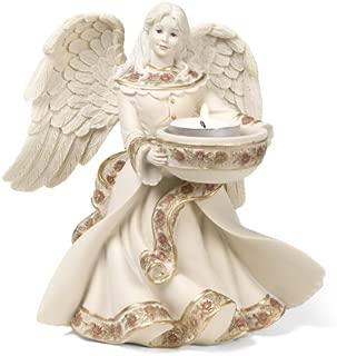 Pavilion Gift Company Sarah's Angels Tapestry Series Angel Tea Light Holder, 7-Inch