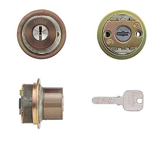 MIWA(美和ロック) JNシリンダー LIXタイプ 鍵 交換 取替え MCY-255 MIWA KABA TE0/LIXセラミックブロンズ色(CB)33〜42mm