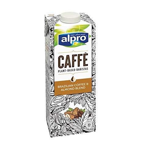 Alpro Caffe Soya Brazilian Coffee - 8 x 1 l I Kaffee I Soja I Brazilian Almond54 I Ready to Drink I Kaffeegetränk I Laktosefrei I Vegan
