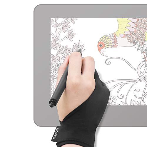 エレコム 液晶タブレット グローブ 2本指 手袋 Mサイズ 左利き右利き両用 TB-GV1M