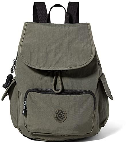 Kipling Mochila para mujer City Pack S, Moss verde, 19x27x33.5 cm, Bolso de mano.
