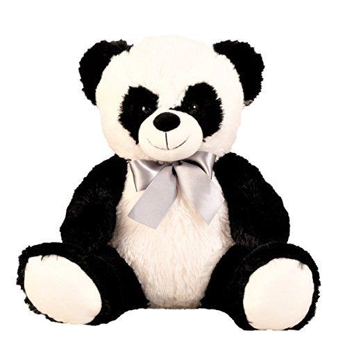 Panda Bär Schleife Kuschelbär Teddy 50 cm Kuscheltier Teddybär Stofftier Pandabär