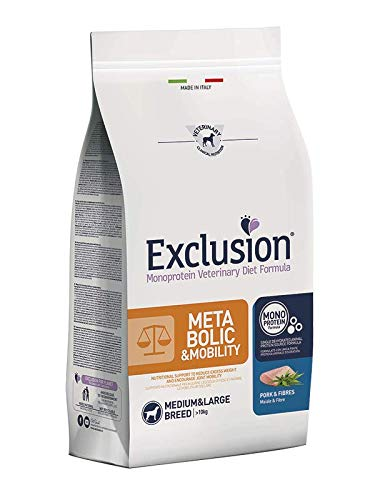 DORADO Exclusion Metabolic Mobility Medium/Large con Maiale E Fibre per Cani da 2 kg k
