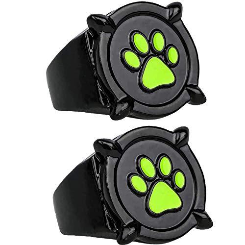 GSTX 2 Piezas de Anillo Cat Noir para niños Adultos, Anillo de Mariquita Anime Cosplay, Anillo de Dedo, para Accesorios de Disfraces de rol, Accesorios (8)