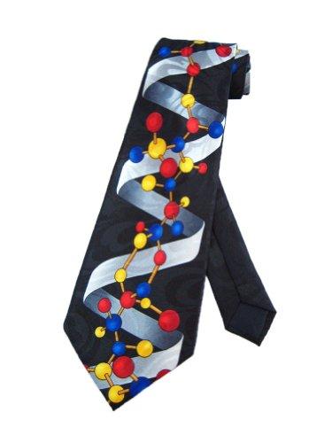 Steven Harris Cravate noir double hélice de DNA de taille unique