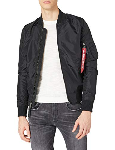 Alpha Industries Herren Jacke Ma-1 TT, Schwarz (Black 03), Large