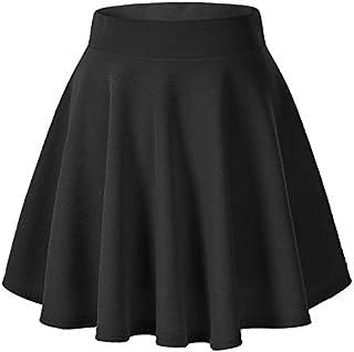 Fraulein Women's/Girl's Mini Skirt Skater High Waist Flared Silhouette Stretchable Material
