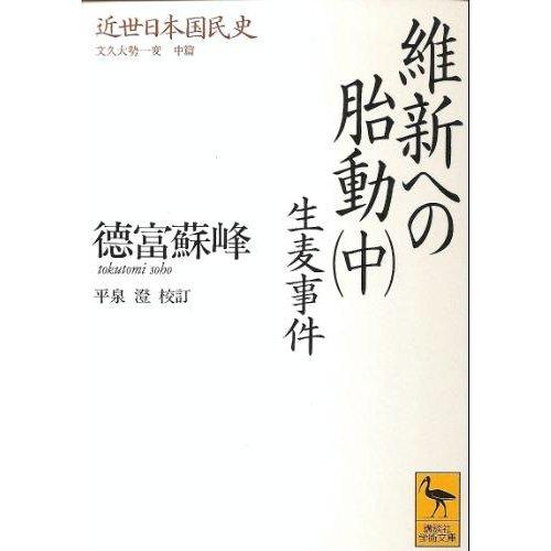 維新への胎動〈中〉生麦事件 (講談社学術文庫―近世日本国民史)の詳細を見る