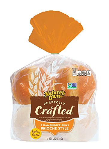 Nature's Own Perfectly Crafted Brioche Style Hamburger Buns, 18 Oz
