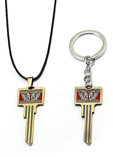 NC190 Halskette für Männer Frauen 1 Stück Schlachtfelder Schlüsselbund Pubg Halskette Triumph Kiste Schlüsselbund Anhänger Schlüsselring Charm Fan Geschenk Souvenir Anhänger Halskette Mädchen
