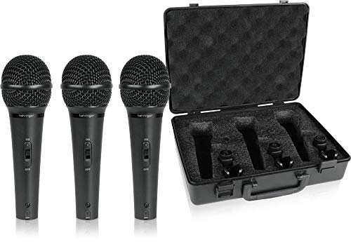 Behringer Ultravoice XM1800S 3 Dynamic Cardioid vocal en instrument Microphones (set van 3)