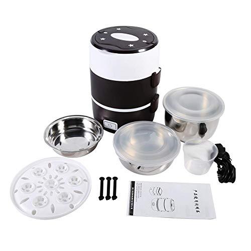 Elektrische Lunchbox-Nahrungsmittelheizvorrichtung Tragbare Mittagessen-Heizung eingestellt mit 3 Schicht-Design-Nahrungsmittelwärmer-Behälter