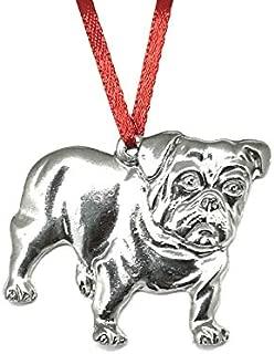 748 Bulldog Pet Dog Ornament Pewter