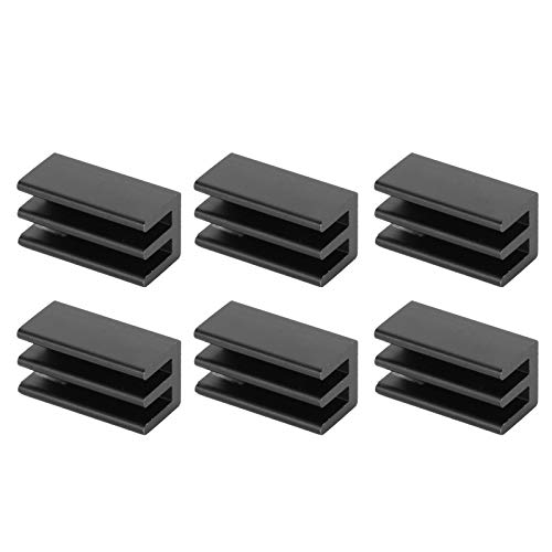Disipador de Calor para CPU, disipador de Calor de Aluminio Q8.5x8x16 para enrutadores para radiadores IC para CPU