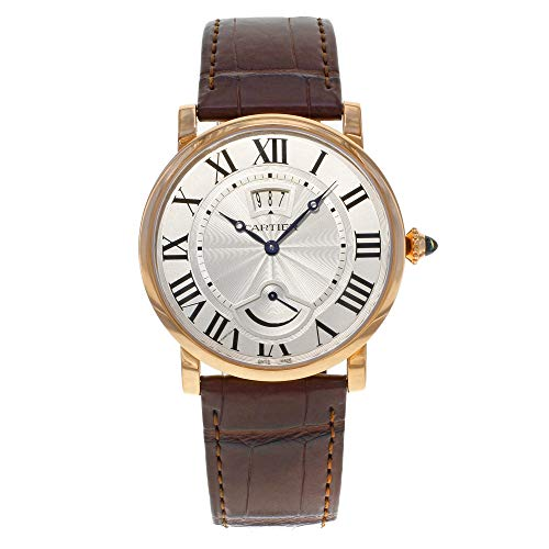 Cartier Rotonde Silver Dial 18K Rose Gold Hand Wind Mens Watch W1556252