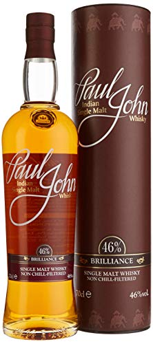 Paul John Brilliance Indian Single Malt Whisky mit Geschenkverpackung  (1 x 0.7 l)