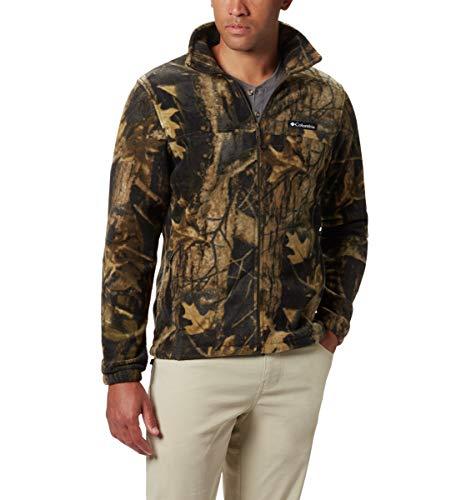 Columbia Men's Steens Mountain Full Zip 2.0 Soft Fleece Jacket, Timberwolf Red, Medium