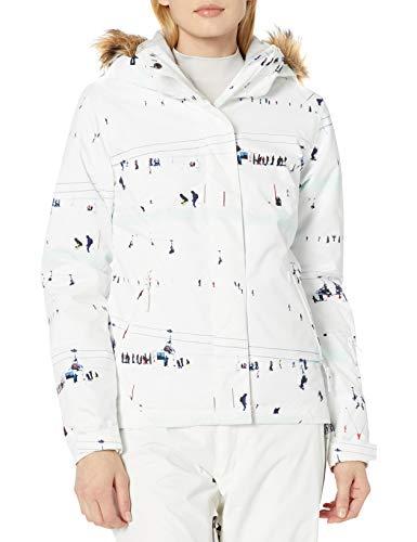 Roxy Snow Junior's Jet Ski Jacket, Bright White on Piste, M