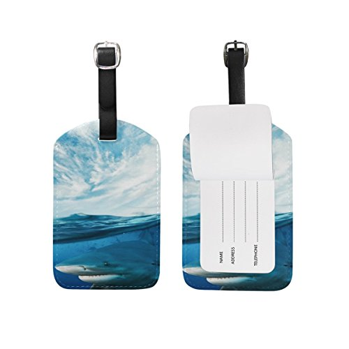 Domoko Underwater World Shark Luggage Tags Travel ID Bag Tag 1 Piece
