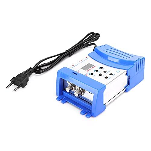 Jiawu Modulador portátil, modulador HDMI Ligero, Plug and Play Digital para TV EU Plug HD HDMI Modulator AV to RF Convert