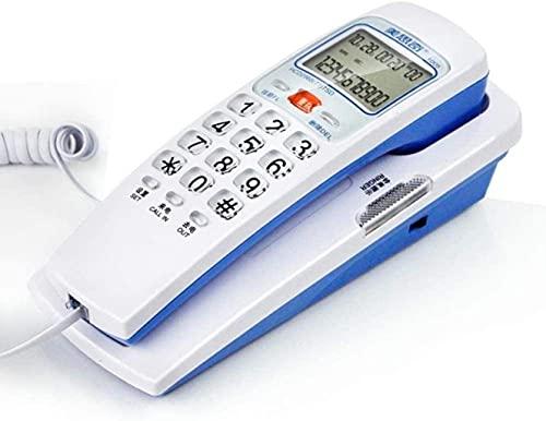 LDDZB Teléfono fijo con cable Teléfono fijo Teléfono fijo en la pared Teléfono fijo Hogar Oficina Hotel Mini mesita de noche, rojo, 180 x 75 x 65 mm (color rojo, tamaño: 180 x 75 x 65 mm)