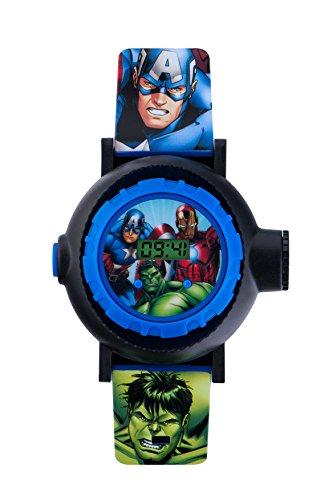 Avengers AVG3536 - Orologio digitale per bambini con quadrante multicolore e cinturino in PU blu