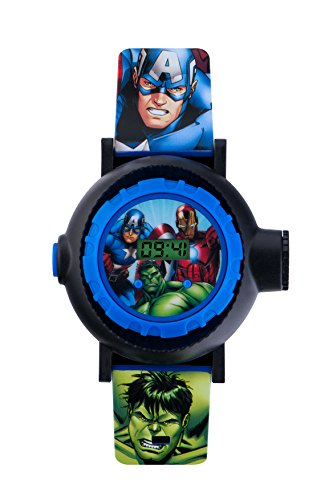 Avengers bambini orologio digitale con display digitale multicolore e cinturino in similpelle blu AVG3536