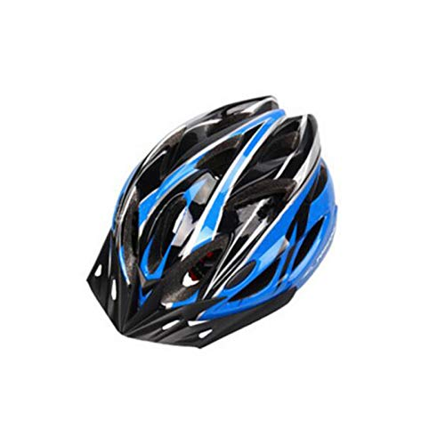 DBXCQ Casco de Bicicleta Ajustable, Material de Seguridad de Seguridad de la Seguridad de la conducción de 24 Pulgadas para Adultos Material EPS y cáscara de PC, a Prueba Blue
