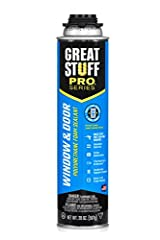 Must be used with GREAT STUFF PRO Series Dispensing Gun, sold separately Made in U.S Exclusively formulated to air seal the gap between a window and a door frame and its rough opening Minimal-expanding, low pressure foam that will not bow or bend win...