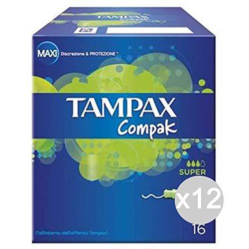Tampax Mochila Juego de 12compresas Trolley Super 16/20higiene íntima Femenina, Multicolor, única