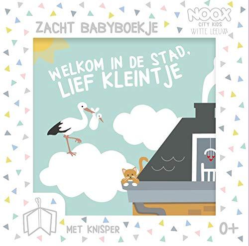 Welkom in de stad, lief kleintje: Zacht babyboekje met knisper