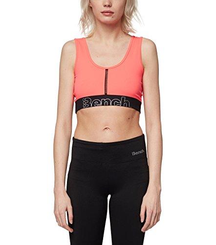 Bench Damen Bralette Sport-BH, Neon Bright Pink As Swatch, S