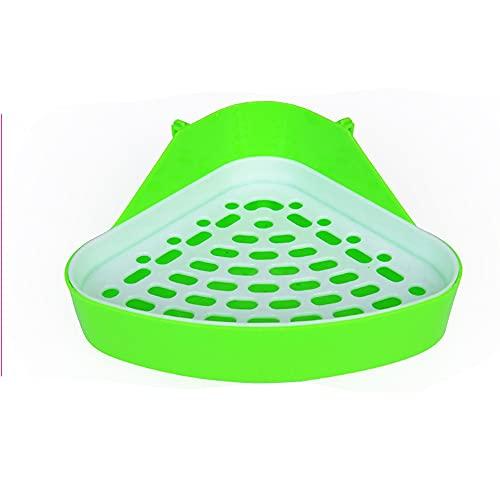 Bandejas de arena para inodoro de esquina para gatos y mascotas, caja de arena para conejos, orinal triangular para inodoro, para hámster, Chinchilla, conejillo de indias