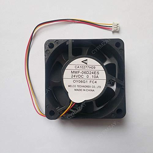 CYRMZAY Ventilador Compatible para Melco MMF-06D24ES-FC4 CA1027H09 60 x 25 mm DC 24 V 0.10 A para Ventilador de refrigeración ABB PLC