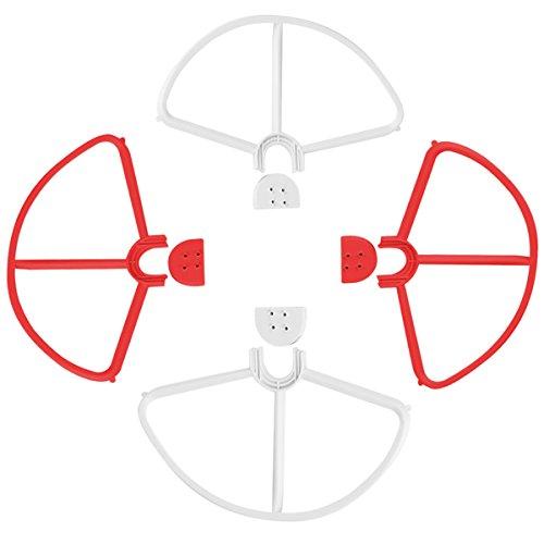PIXNOR 4 Stück Propeller-Schutz für DJI Phantom 3 Quadcopter Luftschraube (Rot Weiß)