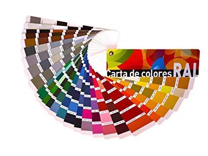 Carta de colores RAL Estándar. Paleta de colores profesional.