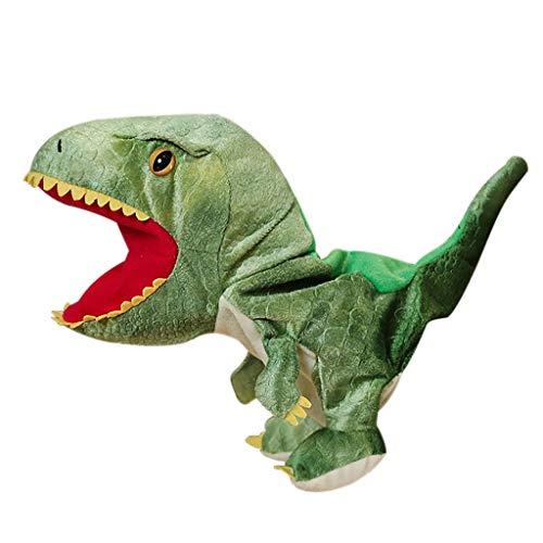 Juguete de Peluche, Juguete de Peluche de Dinosaurio, marioneta de Mano, Boca mvil Abierta para Juegos de rol, Regalo para nios, Juguetes y Pasatiempos (Verde)